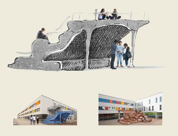 4 Atelier Van Lieshout, Plakatausschnitt (Skizze für den SeeCampus)