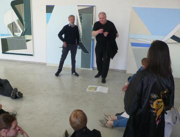 6 Studiobesuch im TAS Projekt mit Mark Gisbourne bei Frank Nitsche