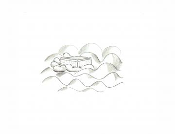 12 Manuel Kirsch, Skizze für einen Schrein der Freundschaft