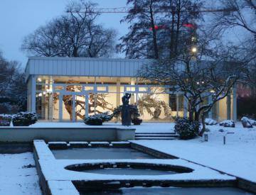 20 Tepidarium - Blick auf den Pavillon