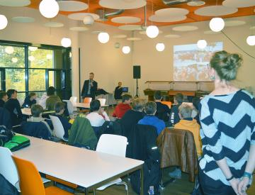 7 Workshop des BKV in der Aula des Hannah-Arendt-Gymnasiums