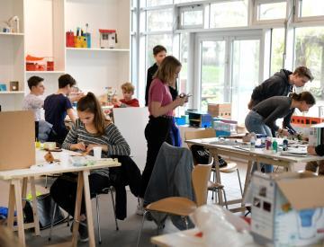 11 Werkstatt-Tag mit Schülern des Hannah-Arendt-Gymnasiums im BKV