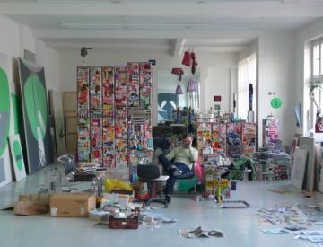 8 Frank Nitsche in seinem Berliner Atelier
