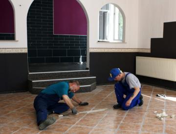 Renovierung der Ladengeschäfte