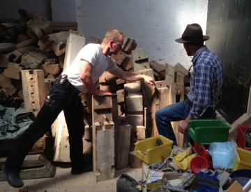 Clegg & Guttmann bei René Bartl in der Werkstatt