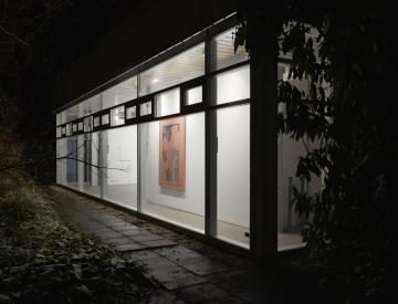 """6 Michael Müller: """"Vor und hinter dem Glas"""" (Installationsansicht)"""