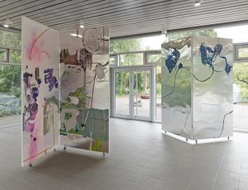 12 Wolfgang Betke: se faire voyant - Ausstellungsansicht