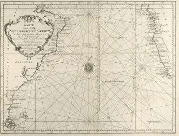 7 Jacques Nicolas Bellin, Seekarte von Südamerika, Afrika (1746)