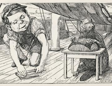"9 Henry Holiday: Illustration zu ""The Hunting of the Snark"""