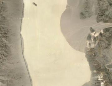 2 Satellitenaufnahme von Racetrack Playa