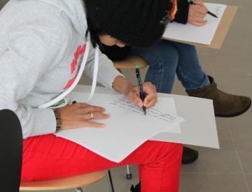 3 Workshop im Ausstellungspavillon des BKV