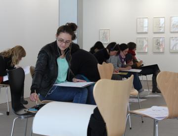 2 Workshop im Ausstellungspavillon des BKV