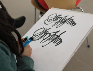 7 Workshop im Ausstellungspavillon des BKV